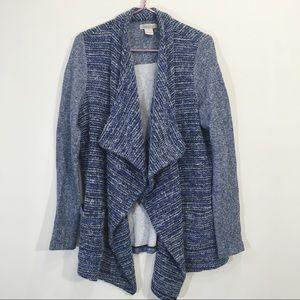 Lucky Brand Boho Knit Poncho Open Cardigan Wool